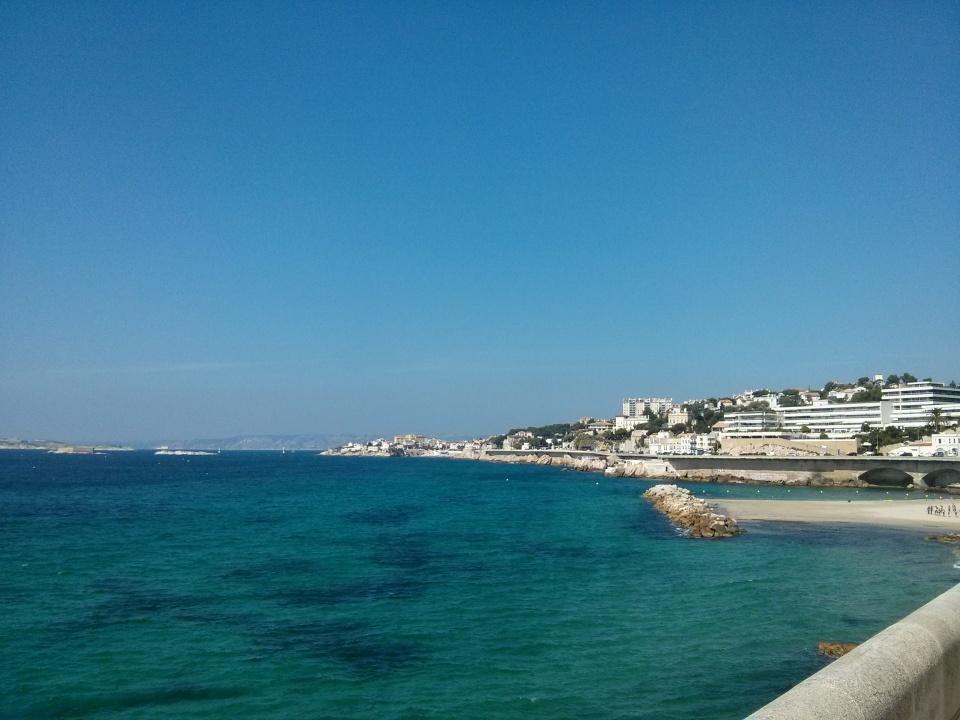A cool beach view, Marseille, France